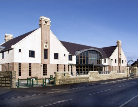 Exterior of Orkney Library & Archive building, 44 Junction Road, Kirkwall, Orkney, KW15 1AG